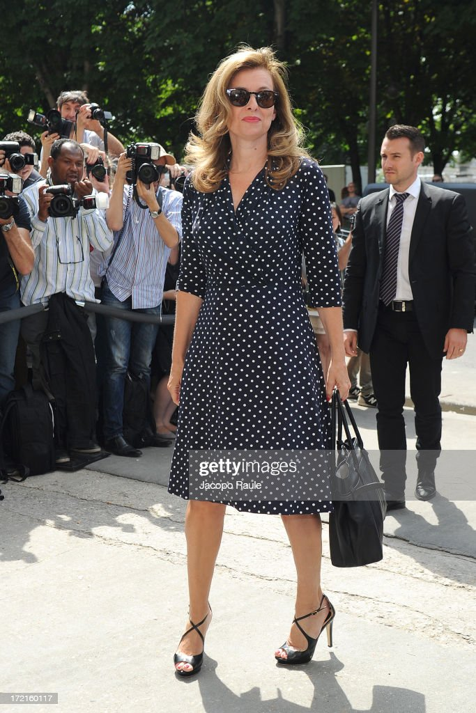 Valerie Trierweiler attends the Chanel show as part of Paris Fashion Week Haute-Couture Fall/Winter 2013-2014 at Grand Palais on July 2, 2013 in Paris, France.