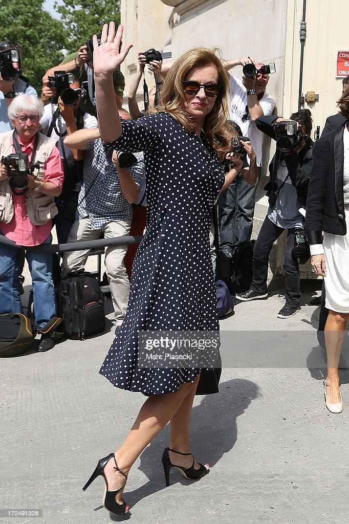 <a gi-track='captionPersonalityLinkClicked' href=/galleries/search?phrase=Valerie+Trierweiler&family=editorial&specificpeople=8534231 ng-click='$event.stopPropagation()'>Valerie Trierweiler</a> attends the Chanel show as part of Paris Fashion Week Haute-Couture Fall/Winter 2013-2014 at Grand Palais on July 2, 2013 in Paris, France.