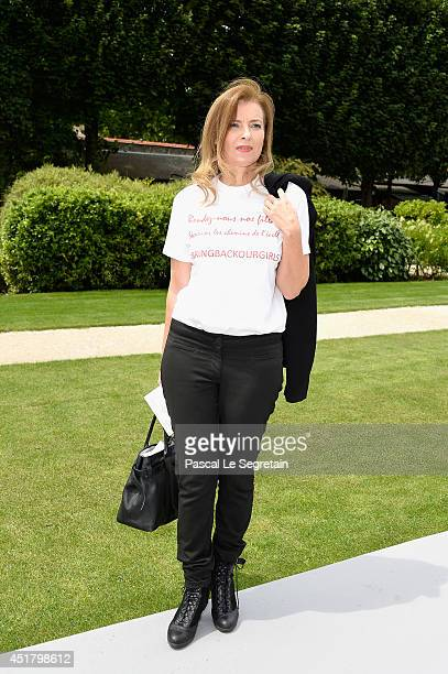 Valerie Trierweiler attends the Christian Dior show as part of Paris Fashion Week Haute Couture Fall/Winter 20142015 on July 7 2014 in Paris France