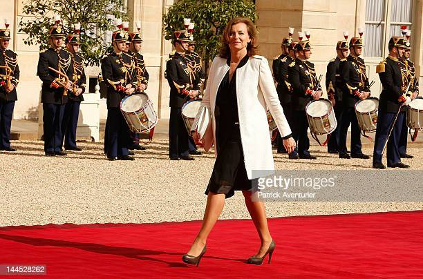 Valerie Trierweiler attends the presidency handover ceremony at Elysee Palace on May 15 2012 in Paris France While Sarkozy has suggested that he will...