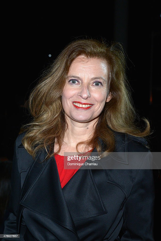 <a gi-track='captionPersonalityLinkClicked' href=/galleries/search?phrase=Valerie+Trierweiler&family=editorial&specificpeople=8534231 ng-click='$event.stopPropagation()'>Valerie Trierweiler</a> attends the Saint Laurent show as part of the Paris Fashion Week Womenswear Fall/Winter 2014-2015 on March 3, 2014 in Paris, France.
