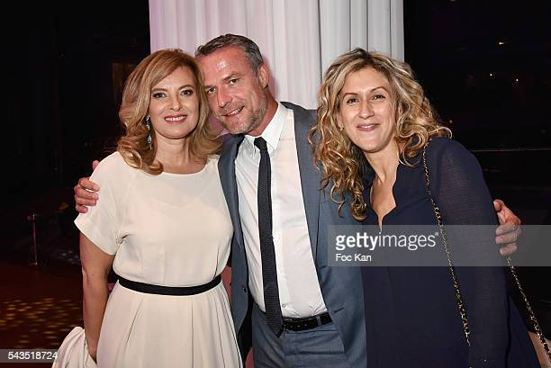 Valerie Trierweiler Jean Marie Guibert and Tassa Benech attend 22th Amnesty International France Gala at Theatre des Champs Elysees After Party at...