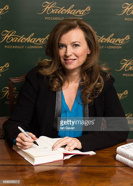 Valerie Trierweiler signs copies of her book 'Thanks for the moment' at Hatchards on November 25 2014 in London England