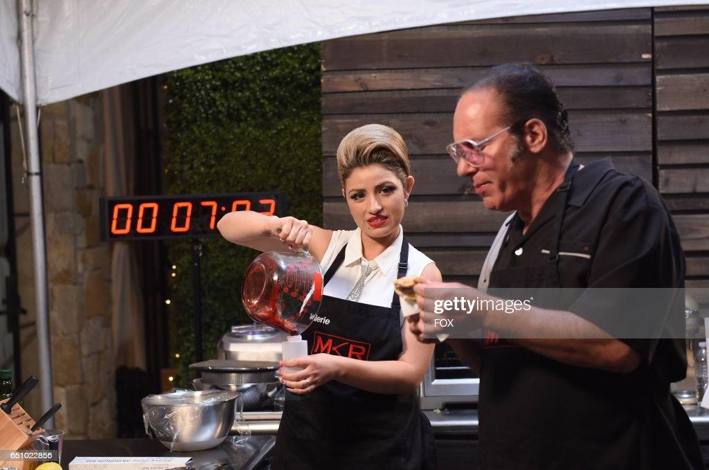 Valerie Vasquez and Andrew Dice Clay in the Champion is Crowned season finale episode of MY KITCHEN RULES airing Thursday, March 2 (9:01-10:00 PM ET/PT), on FOX.