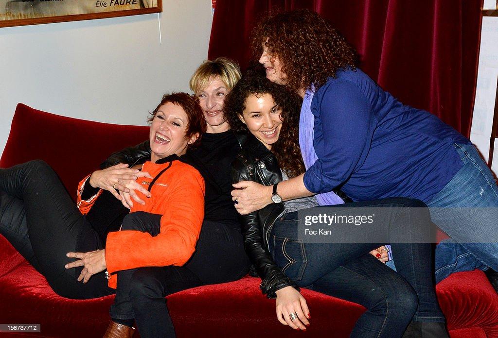 Valerie Vogt, Sophie Mounicot, Sofiia Manousha and Valerie Mairesse attend the 'Par Amour' Paris Premiere at Studio 28 on December 26, 2012 in Paris, France.