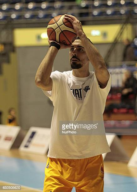 Valerio Mazzola during Italy Lega Basket of Serie A match between Fiat Torino v Sidigas Avellino in Turin on january 22 2017