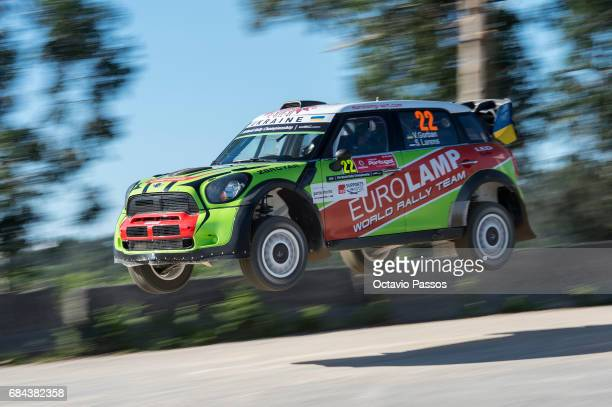 Valeriy Gorban of Ukraine and Sergei Larens of Estonia compete in their Eurolamp WRT BMWMini John Cooper Works WRC during the shakedown of the WRC...