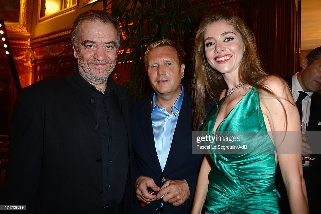 Valery Gergiev (L) and Dmitry Shumkov (C) attends the dinner at 'Love Ball' hosted by Natalia Vodianova in support of The Naked Heart Foundation at Opera Garnier on July 27, 2013 in Monaco, Monaco.