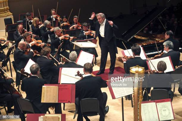 Valery Gergiev leading the Munich Philharmonic at Carnegie Hall on Monday night April 3 2017 This image PierreLaurent Aimard performing Ravel's...