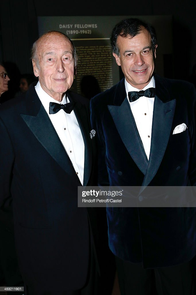 <a gi-track='captionPersonalityLinkClicked' href=/galleries/search?phrase=Valery+Giscard+d%27Estaing&family=editorial&specificpeople=209245 ng-click='$event.stopPropagation()'>Valery Giscard d'Estaing</a> and his son Henri Giscard d'Estaing attend 'Cartier: Le Style et L'Histoire' Exhibition Private Opening at Le Grand Palais on December 2, 2013 in Paris, France.