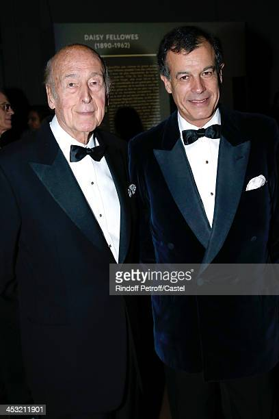 Valery Giscard d'Estaing and his son Henri Giscard d'Estaing attend 'Cartier Le Style et L'Histoire' Exhibition Private Opening at Le Grand Palais on...