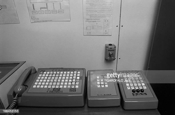 Valery Giscard D'Estaing President And Chief Of The Armed Forces Paris 22 Septembre 1979 Reportage sur le réseau de commande des forces nucléaires...