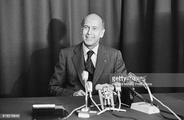 Valery Giscard d'Estaing Visits Nuclear Power Plant