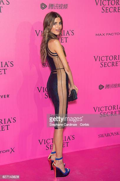 Valery Kaufman attends '2016 Victoria's Secret Fashion Show' after show photocall at Le Grand Palais on November 30 2016 in Paris France