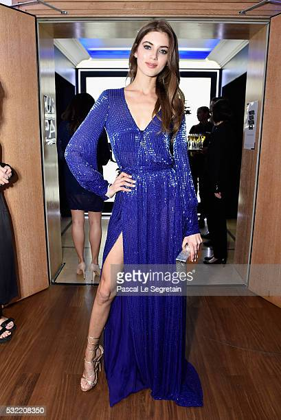 Valery Kaufman attends the L'Oreal Paris Blue Obsession Party at the annual 69th Cannes Film Festival at Hotel Martinez on May 18 2016 in Cannes...