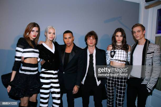Valery Kaufman Sasha Luss Stylist of Balmain Olivier Rousteing Louka Meliava Aleyna Fitzgerald and Maxime Findeling attend the Annual Charity Dinner...