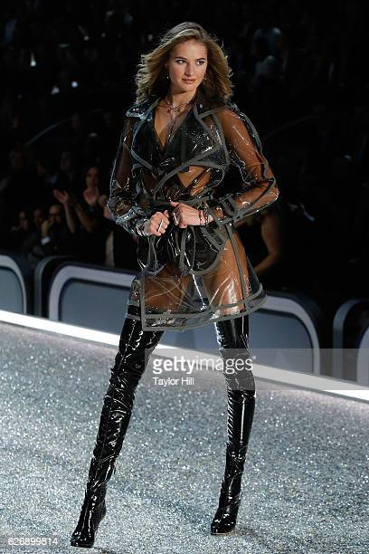 Valery Kaufman walks the runway during the 2016 Victoria's Secret Fashion Show at Le Grand Palais on November 30 2016 in Paris France