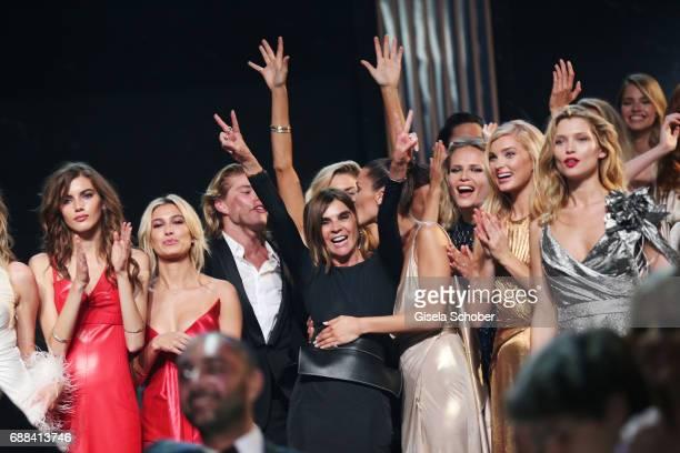 Valery Kaufman wearing Louis Vuitton Hailey Baldwin wearing Oscar de la Renta Carine Roitfeld Bella Hadid wearing Alexandre Vauthier Natasha Poly...