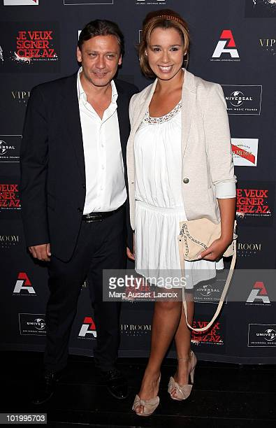 Valery Zeitoun and Chimene Badi attend the AZ Party And Concert At VIP Room Theater at VIP Room Theatre on June 3 2010 in Paris France