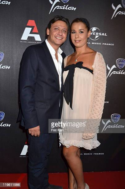 Valery Zeitoun and Chimene Badi attend the AZ Party at Chalet Du Lac on June 23 2011 in Paris France