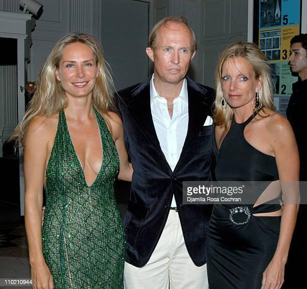 Valesca Guerrand Hermes Mark Gilbertson and Rachel Hovnanian wearing Gucci