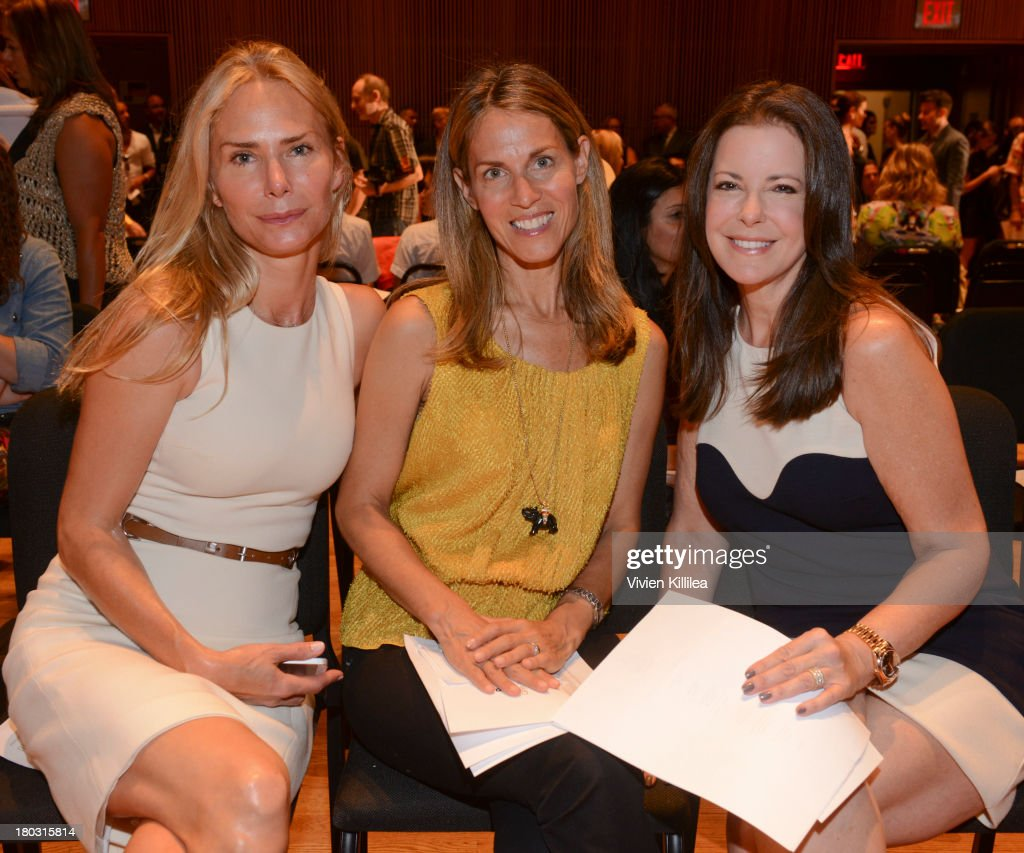Valesca Hermes, Caryn Zucker and Ellen Crown are seen on the front row at the Douglas Hannant fashion show during Mercedes-Benz Fashion Week Spring 2014 on September 11, 2013 in New York City.