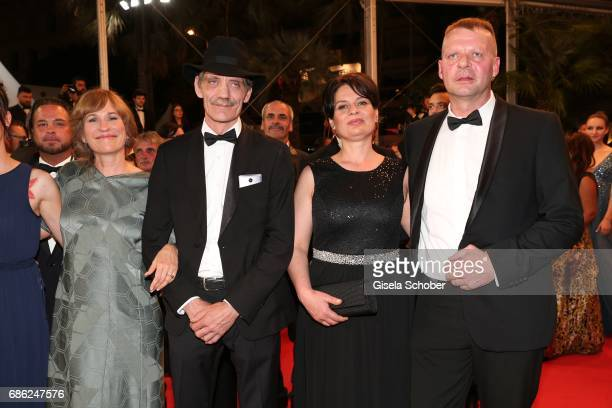 Valeska Grisebach Meinhard Neumann Veneta Fragnova Reinhardt Wetrek attend the 'Western' screening during the 70th annual Cannes Film Festival at...