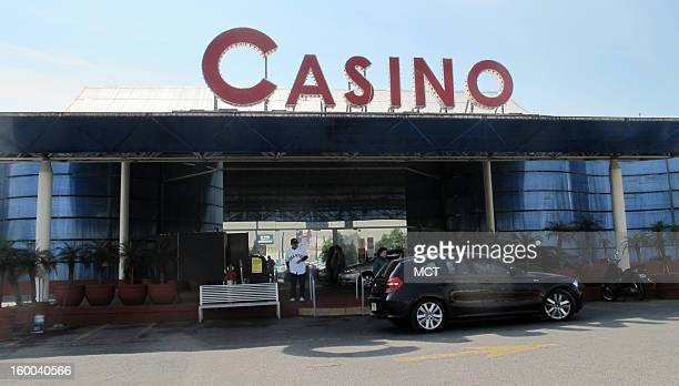 Valets park cars at the entrance to the Kash casino a USoperated facility on the outskirts of Mexico City January 19 2013