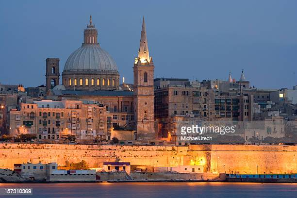 Valetta Skyline In The Evening