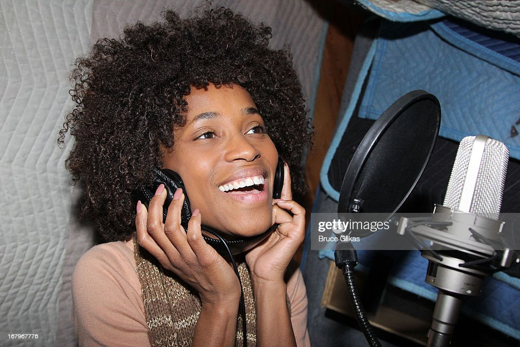 Valisia LeKae attends Broadway's 'Motown:The Musical' Original Broadway Cast Recording Session at MSR Studios in Times Square on May 2, 2013 in New York City.