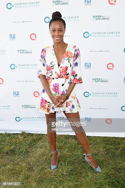 Valisia Lekae attends OCRF's 18th Annual Super Saturday NY Hosted by Donna Karan and Kelly Ripa on July 25 2015 in Water Mill City