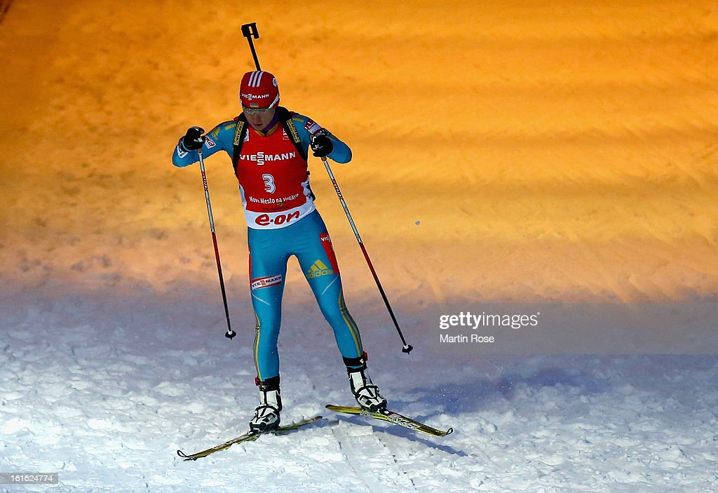 Valj Semerenko of Ukraine competes in the Women's 15km Individual during the IBU Biathlon World Championships at Vysocina Arena on February 13, 2013 in Nove Mesto na Morave, Czech Republic.