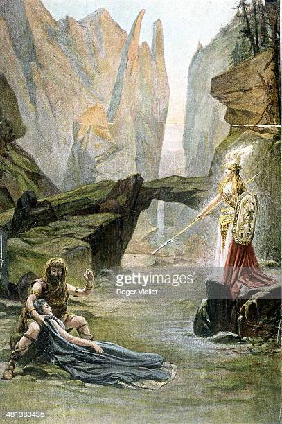 Valkyrie by Richard Wagner German composer and dramatist Illustration by Laurent Desrousseaux