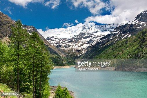 Valle D'Aosta, Valpelline, Place Moulin lake
