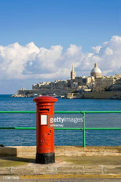 Valletta view with post box