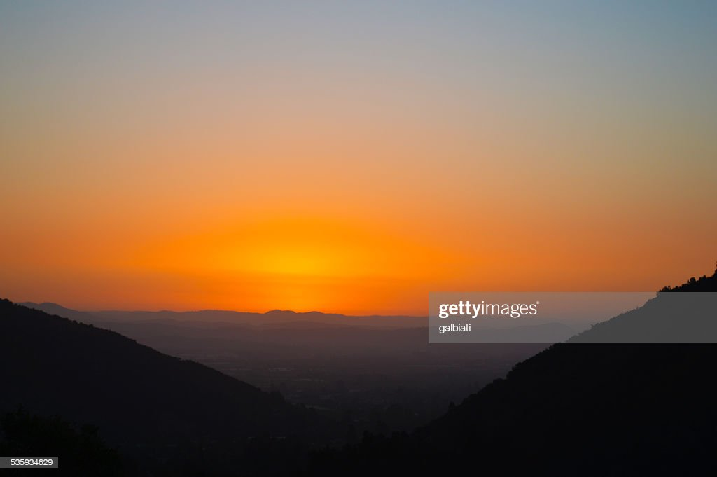 Valley at sunset : Stock Photo