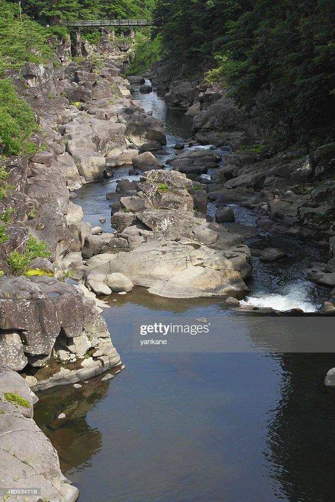 Valley genbi in Iwate, Touhoku : Stock-Foto