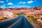Valley of Fire panoramic road - Nevada USA