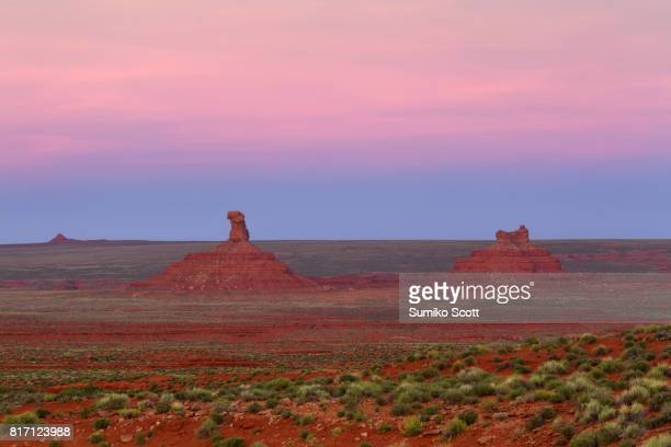 Valley of the Gods at Sunset near Mexican Hat, Utah