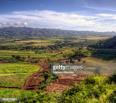 Valley of the Sugar Mills colourful fields