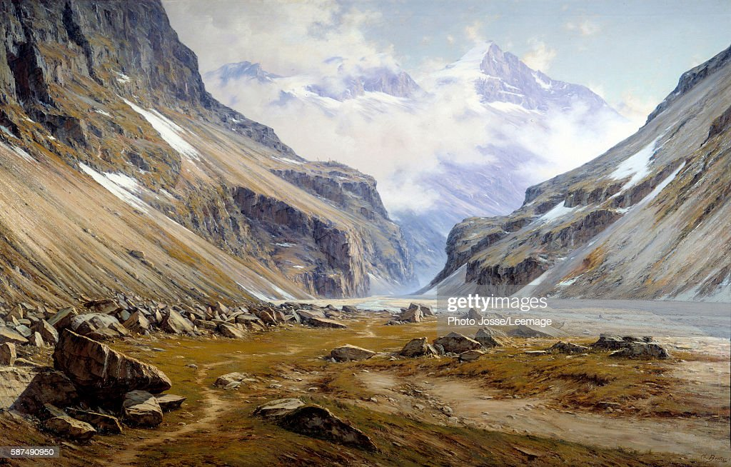Valley of Veneon at Saint Christophe en Oisans in the Alps Painting by Charles Bertier 1894 2 x 32 m BeauxArts Museum Grenoble France