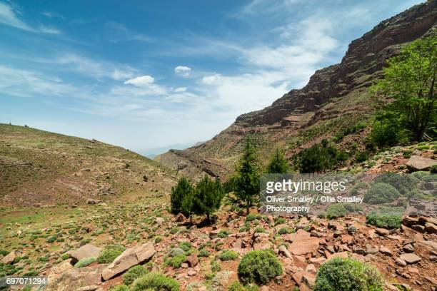 Valley View into the Foothills of the Atlas Mountains - Oukaimeden, Morocco