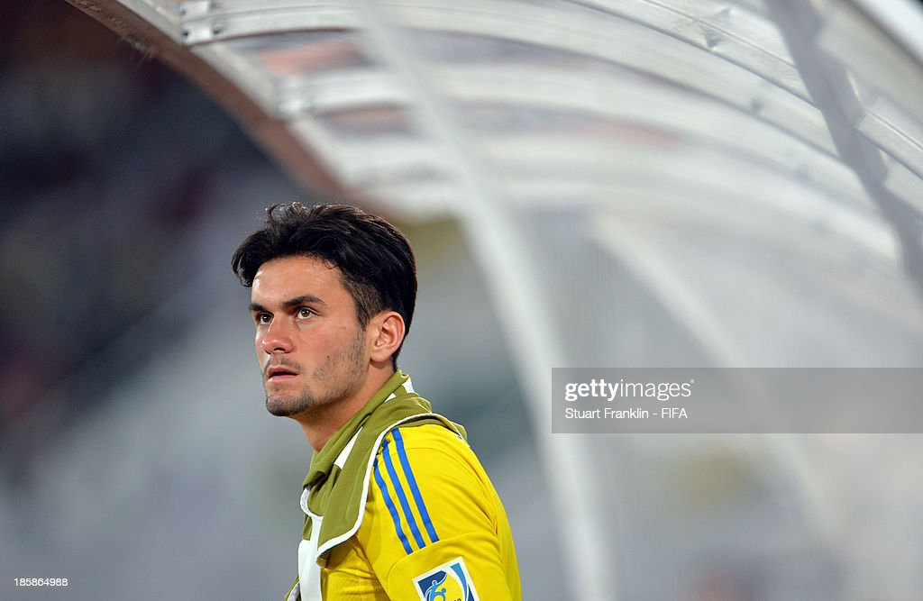 Valmir Berisha of Sweden looks on during the FIFA U 17 World Cup group F match between Sweden and Mexico at Khalifa Bin Zayed Stadium on October 25, 2013 in Al Ain, United Arab Emirates.