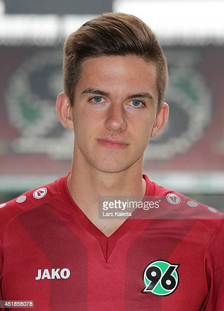 Valmir Sulejmani poses during the team presentation at HDIArena on July 8 2014 in Hanover Germany