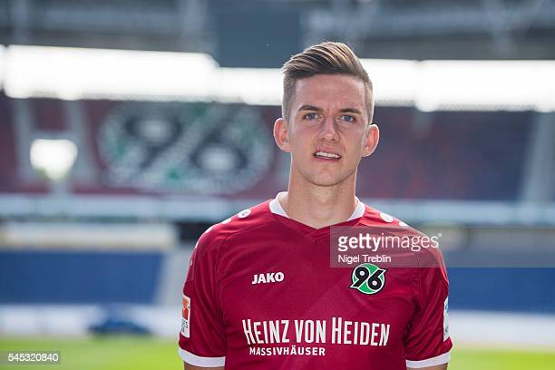 Valmir Sulejmani poses during the team presentation of Hannover 96 on July 7 2016 in Hanover Germany
