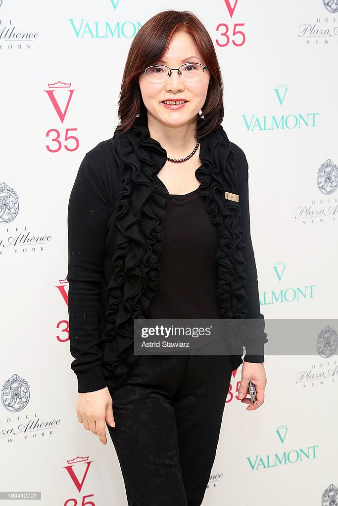 Valmont SPA specialist Mimi attends the V35 Valmont SPA Launch Event at Plaza Athenee on January 30, 2013 in New York City.