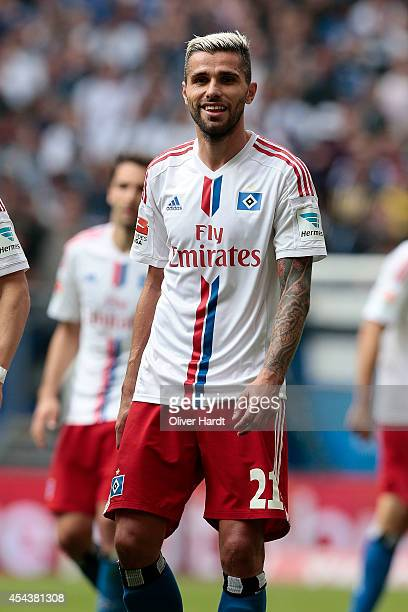 Valon Behrami of Hamburg in action during the Bundesliga match between Hamburger SV and SC Paderborn 07 at Imtech Arena on August 30 2014 in Hamburg...