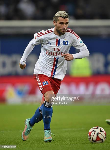 Valon Behrami of Hamburg in action during the Bundesliga match between Hamburger SV and VfB Stuttgart at Imtech Arena on December 16 2014 in Hamburg...