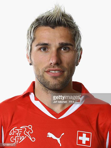 Valon Behrami of Switzerland poses during the official Fifa World Cup 2010 portrait session > on June 11 2010 in Johannesburg South Africa