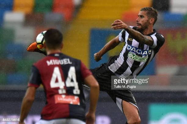 Valon Behrami of Udinese in action during the Serie A match between Udinese Calcio and Genoa CFC at Stadio Friuli on September 10 2017 in Udine Italy